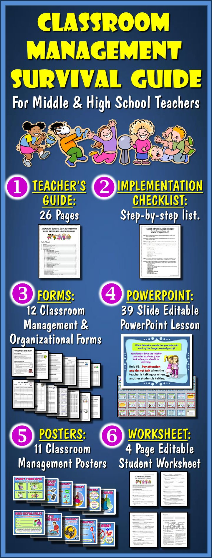 Need a practical solution to your middle school or high school classroom management challenges?  Here it is!