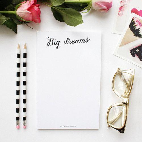 must have - big dreams notebook.