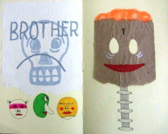 Artista: Ricardo Muñoz Izquierdo, Libreta dibujos 8, dibujos en hoja de libreta, 13,5x20cm, + PA.  Artist: Ricardo Muñoz Izquierdo, drawings Book 8 sheet of notebook drawings , 13,5x20cm , + PA .