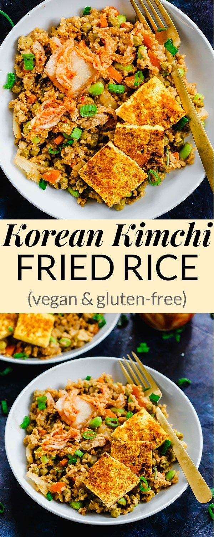 Korean Kimchi Fried Rice Vegan Gluten Free