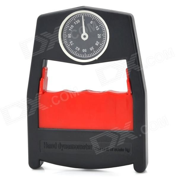 Model: 2; Quantity: 1 piece(s) per pack; Color: Black; Material: Engineering plastics + stainless steel; Specification: 0~130kg; Other Features: This hand dynamometer is lightweight and ergonomic design make it easy to hold; Ideal for routine screening of hand grip strength at home or in school; This dynamometer measures isometric grip force from 0-130 Kg; Packing List: 1 x Hand dynamometer; http://j.mp/1lklgyy