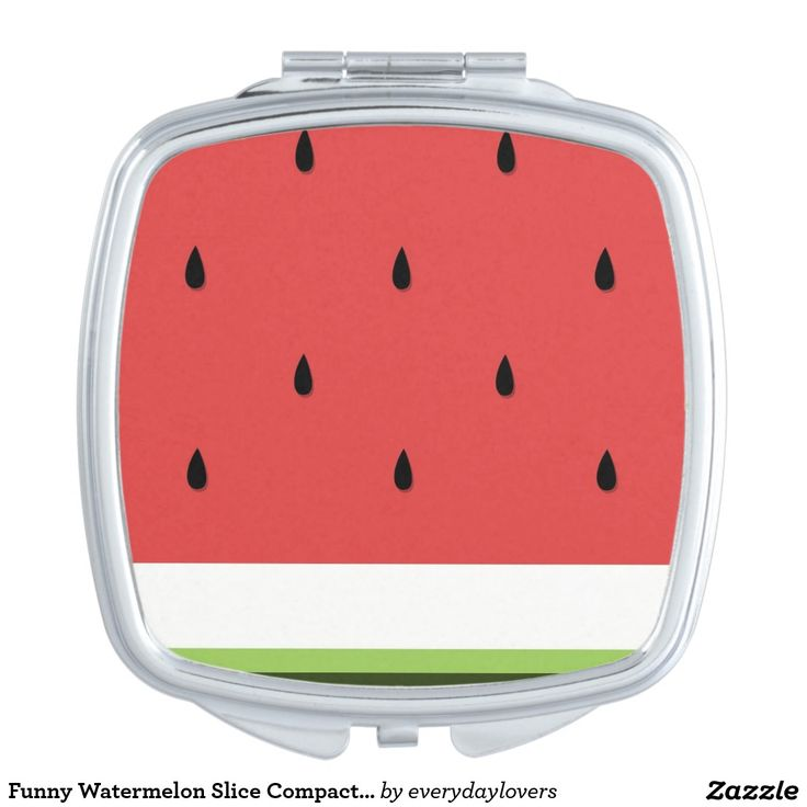 Funny Watermelon Slice Compact Mirror