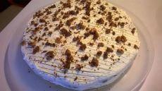 """торт """"Ютландия"""" (шоколадный бисквит с кремом из ягод и взбитых сливок)"""