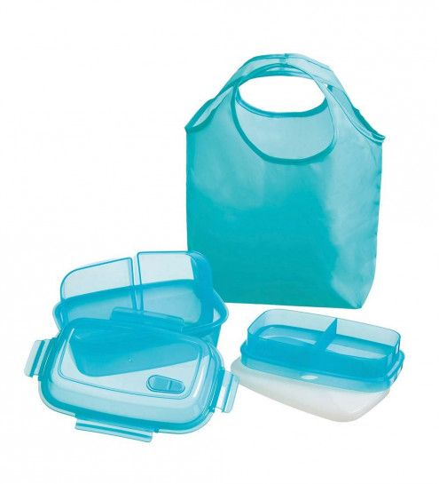 Reuseit Steaming Divided Lunch Container and Tote | Reusable Lunch Bags | Reuseit