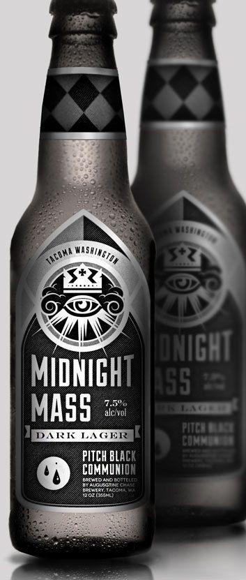 midnight mass #beer #design #packaging  mxm