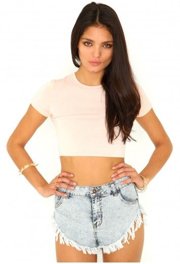 Kadisha Round Neck Crop Top - Tops - Crop Tops - Missguided