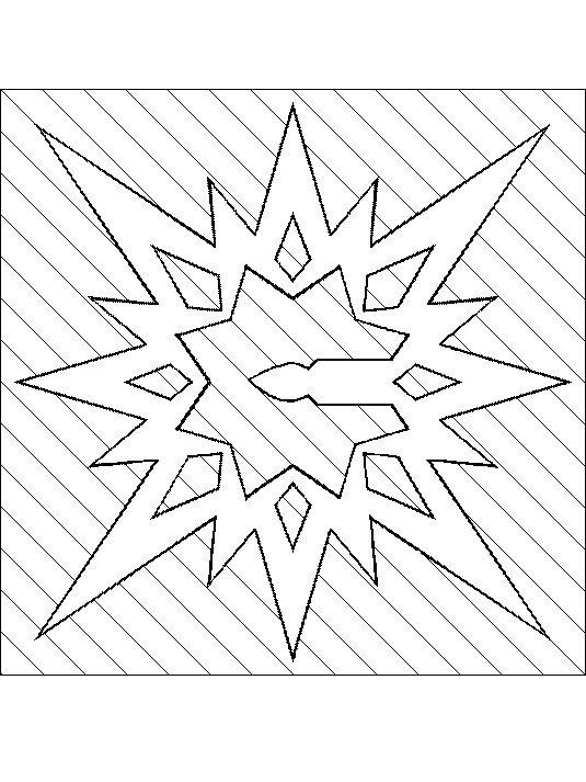 vystřihovánka hvězda