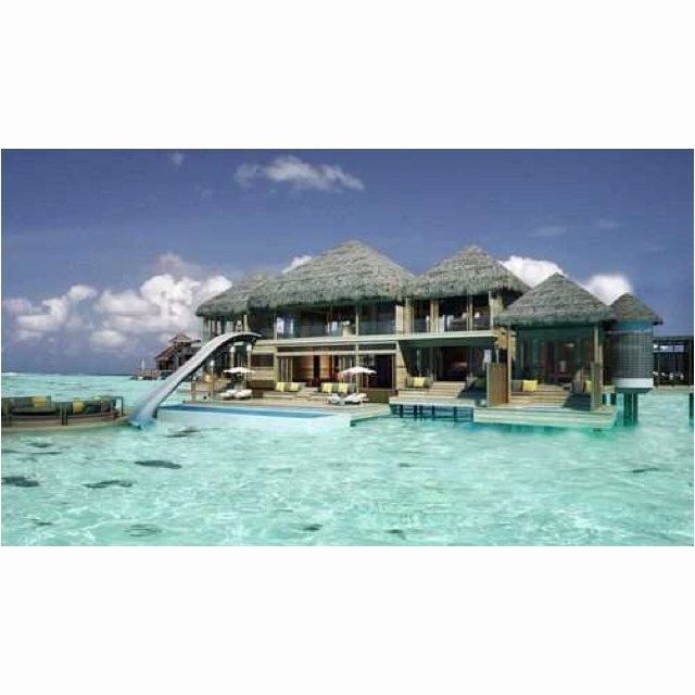Looks heavenly!!: Dreams Home, Dreams Houses, Dreams Vacations, Best Quality, Beaches Houses, Water Sliding, Places, The Maldives, Borabora