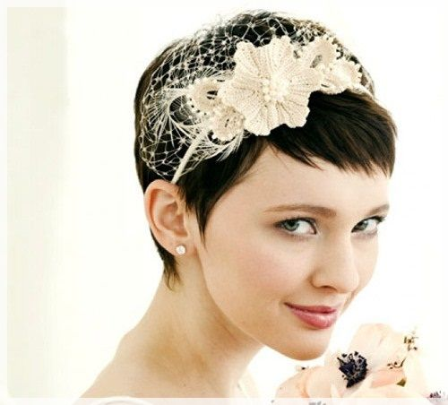 25 best short hairstyles for weddings images on pinterest short hairstyles for a wedding bridesmaid junglespirit Gallery