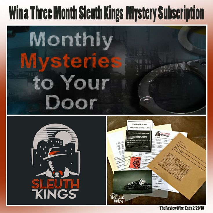 Win a three month subscription service to Sleuth Kings!   #sleuthkings #mystery #subscriptionservice #subscriptionbox #monthlybox