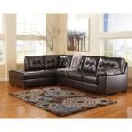 Signature Design by Ashley Alliston Sectional in Chocolate (Brown) DuraBlend
