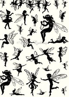 Fairies Die Cut Silhouette Stickers - Designed to give crafters the look of a stamped image without the need to stamp. The large A4 sheets of die cut stickers are simple to use and unlike stamps will work on curved surfaces such as candle holders. The matte finish and short reposition time means they work perfectly on home decor as well as cards.