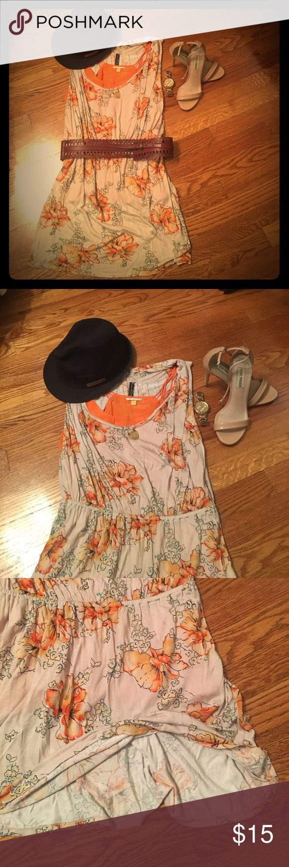 Free People Dress & Leifsdottir Silk Orange Cami Aloha. Beach days or Taco Tuesdays. Free people 100% viscose jersey dress-size M. Hand wash cold and lay flat to dry. Elastic waste. Leifsdottir orange 100% silk cami, size 0 dry clean only, comes with it. Lightly worn. Free People Dresses