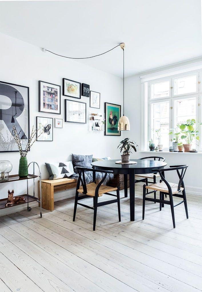 """32 Stylish Dining Room Ideas To Impress Your Dinner Guests: """"Selv Om Selve Køkkenet Er Meget Almindeligt, Har Vi Gjort"""