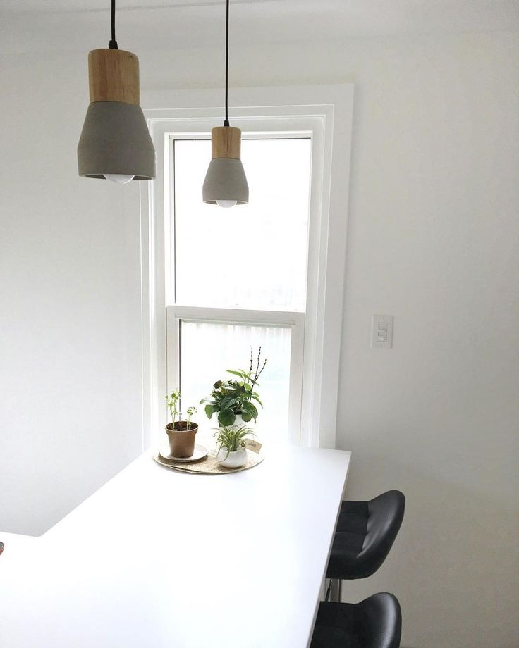 Our Scandi House   white kitchen island   concrete pendant lights   wood   scandi   @ourscandihouse   www.ourscandihouse.ca