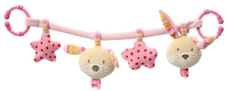Autostoel speelgoed Konijn Fehn roze of activity center voor aan de autostoel voor meisjes. Dit leuke babyspeelgoed voor meisjes zit boordevol activiteiten voor uw baby of dreumes. Zo hoeft ze zich niet te vervelen tijdens de autorit. #autostoelspeelgoed #babyspeelgoed #speelgoed #kinderwagenspeelgoed