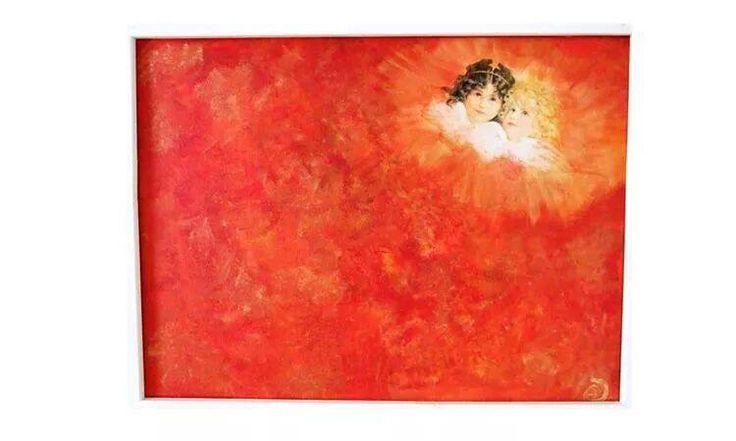 Engle maleri Angel painting