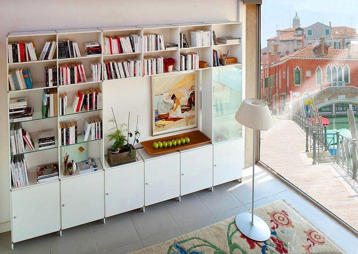 piarotto_bookcases  Fitting Bookcase in white aluminum in a house in Venice SEE MORE http://www.piarotto.com/en/galleria/ #design #bookshelves #bookcase #shelving #etagere #estante #bücherregal #bookshelf #madeinitaly #interiores #madeinvenice #venezia #modernliving#modernfurniture#furnituredesign#onlinefurniture##onlinestore#onlinestores#onlineshopping#luxurydesign #luxuryinteriors#luxury#homestyle#homedecor#homedecoration#