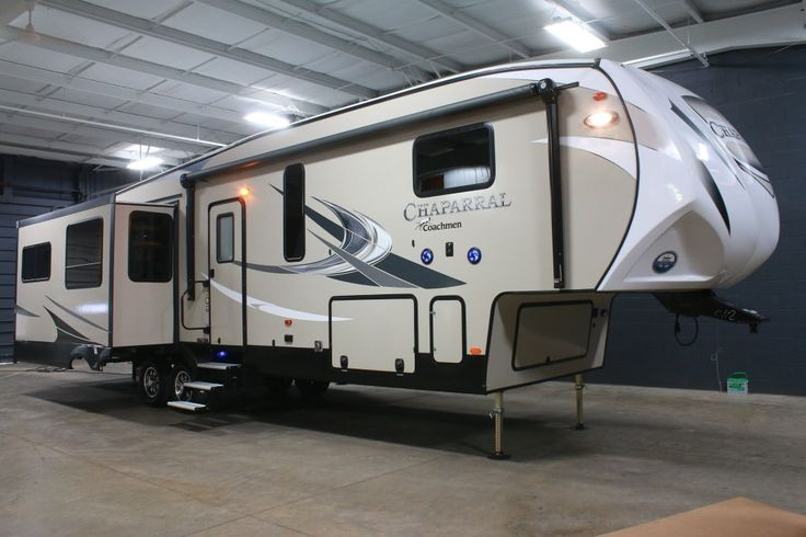"""GORGEOUS FAMILY FIFTH WHEEL!!!  2017 Coachmen Chaparral 360IBL This fifth wheel features a neat bunkhouse that the kids are sure to love! There are plenty of gorgeous residential touches throughout, like a island breakfast bar, huge walk-in shower, and free-standing dinette! The 360IBL is 39'8"""" long, weighs 11,320 lbs., and has a 48-90-45 holding tank capacity! Give our Chaparral expert Corey Clarke a call 616-378-6784 for pricing and more information."""