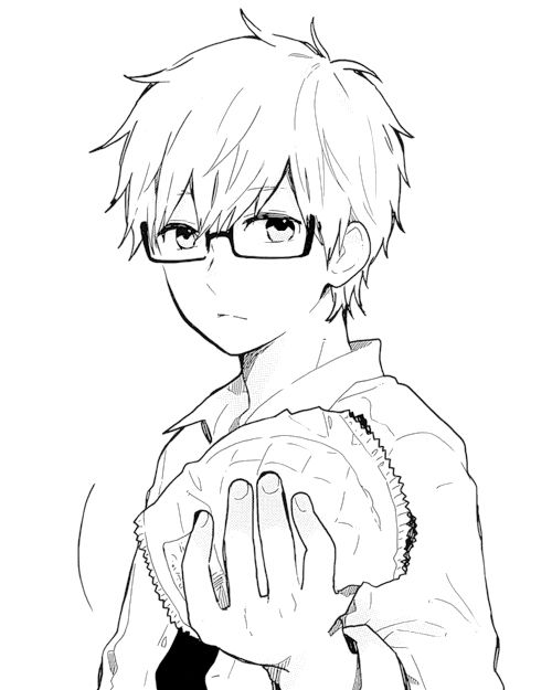 Anime Boy with Glasses Drawing