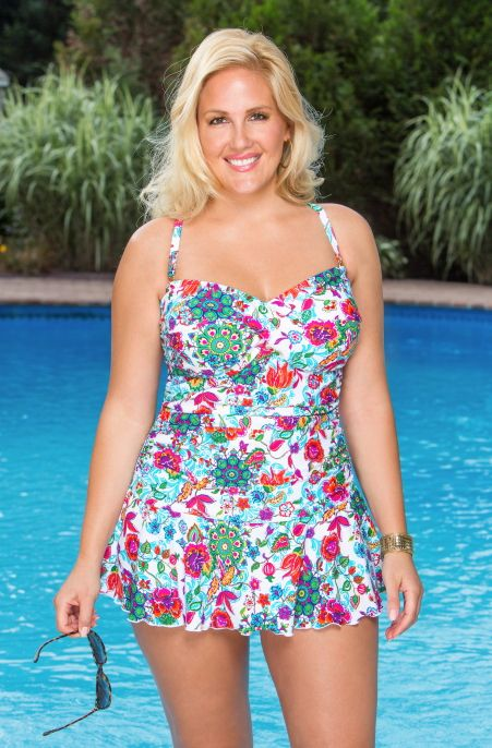Always For Me Chic Elena Twist Bandeau Plus Size Swimsuit Always for Me  Price:$89.00 In Stock