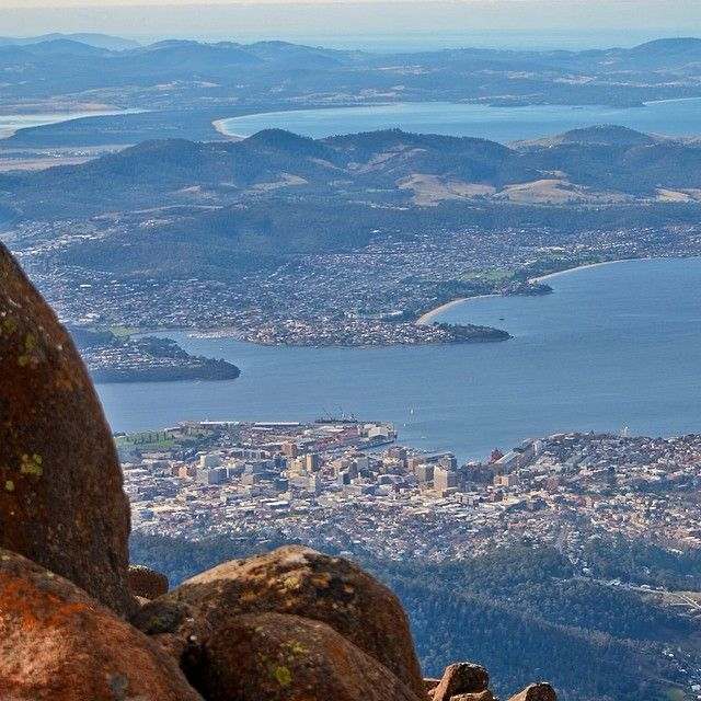 Hobart, from the top of Mt Wellington. #hobart #tasmania #discovertasmania Image Credit: Hayden Bray