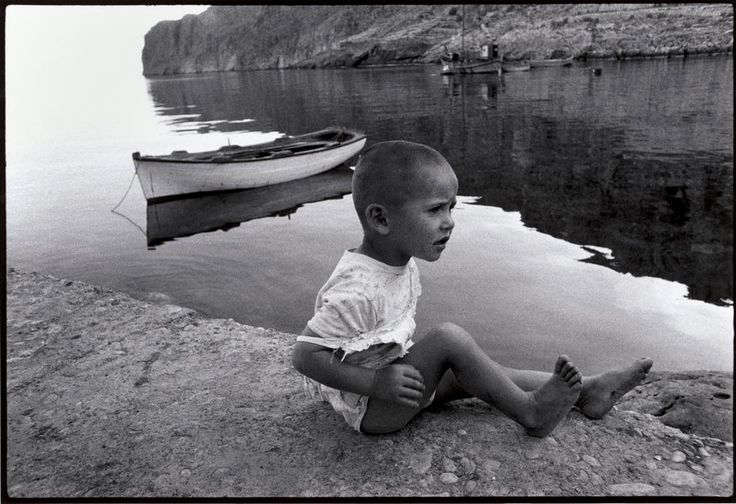 Constantine Manos. GREECE. Mani. 1964. Boy by the sea.