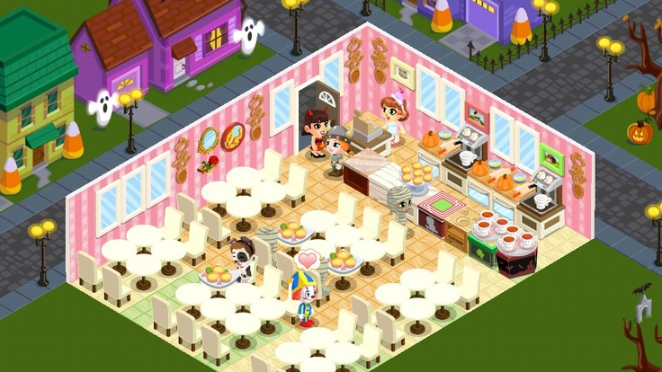 bakery story game - halloween edition