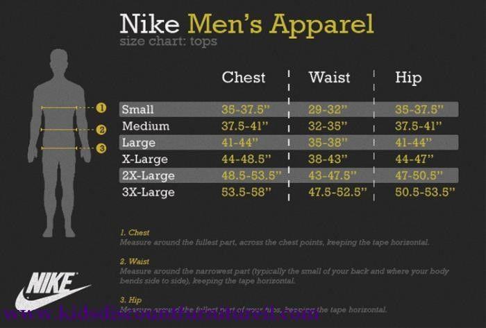 Nike Men S Shirts Size Chart In 2020 Nike Men Size Chart Chart