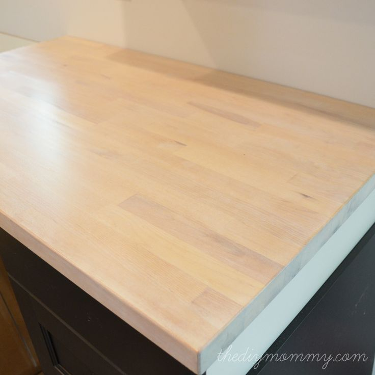 Whitewash and Seal a Butcher Block Counter Top Butcher