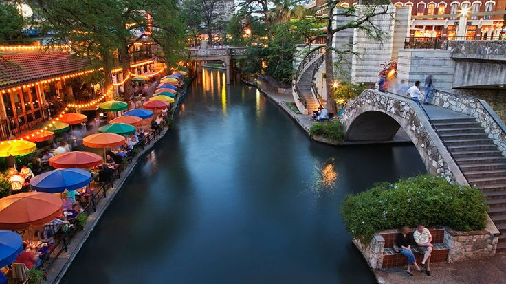 Take a stroll along the San Antonio River Walk. This 2.5-mile-long network of walkways, along the banks of the San Antonio River, is lined with an eclectic mix of shops, bars and more. Chow down at one of the top River Walk restaurants, and then relax at one of these hotels near the River Walk.
