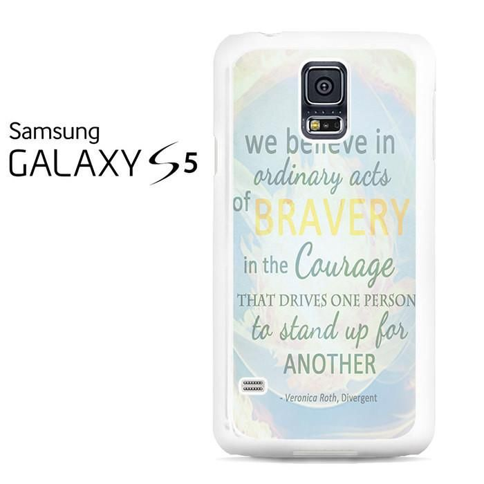 Divergent Dauntless The Brave Quotes Samsung Galaxy S5 Case