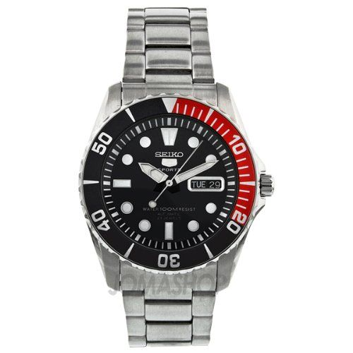 Seiko 5 Blue Dial Stainless Steel Automatic Mens Watch SNZF15 Check https://www.carrywatches.com
