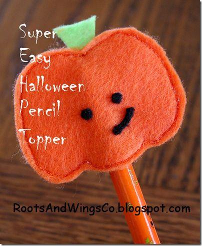 Pencil Toppers - 25 DIY Non-Candy Halloween Treats