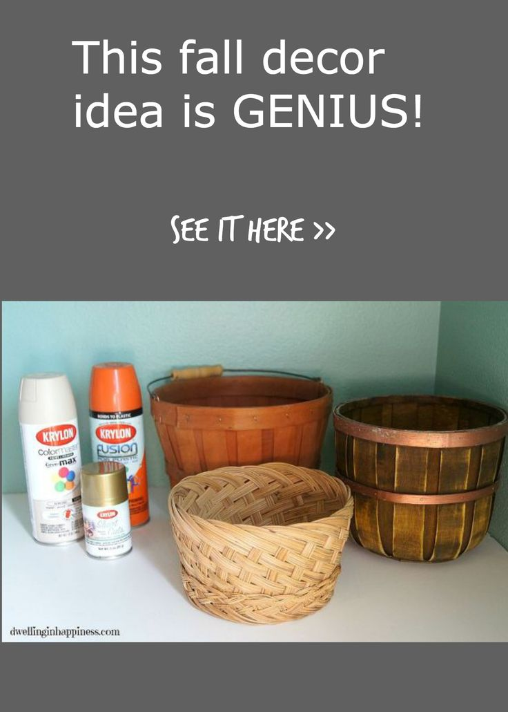 OK, this is seriously clever! This is an inexpensive and EASY way to decorate your home this fall! So cute!