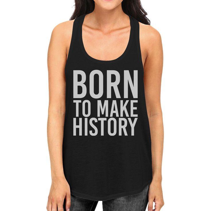 Born To Make History Womens Sleeveless Black Tank Top Yuri On Ice