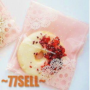 Большие розовые кружева горошек закуски, ziplock мешок, печенье, хлеб, печенье мешки для упаковки 16*20 см 200 шт. оптовая