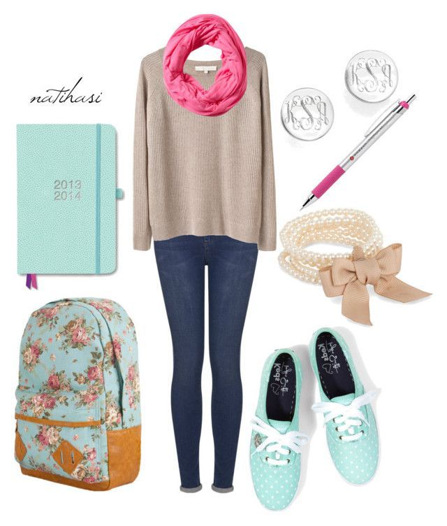 """""""First Day of School Outfit"""" by natihasi ❤ liked on Polyvore #day #first #lik… – school hairstyles for teens"""