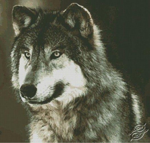 Wolf - Free Cross Stitch Pattern