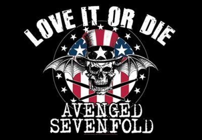 Drapeau AVENGED SEVENFOLD - Love It Or Die