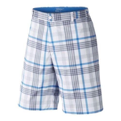 Nike Dri Fit Stretch Fashion Plaid Men's Golf Shorts 483588