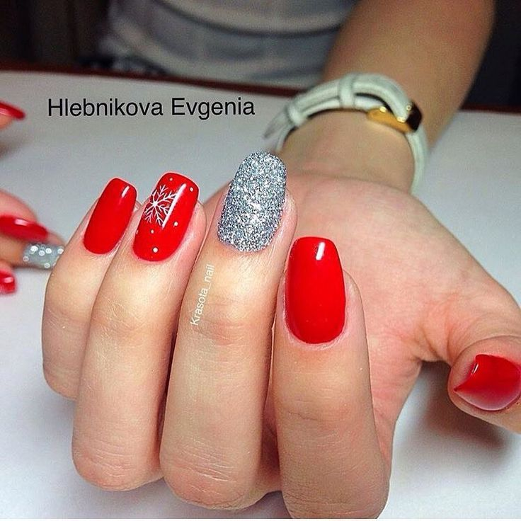 Best 25+ Red and silver nails ideas on Pinterest | Christmas manicure, Red  nails and Cute red nails - Best 25+ Red And Silver Nails Ideas On Pinterest Christmas