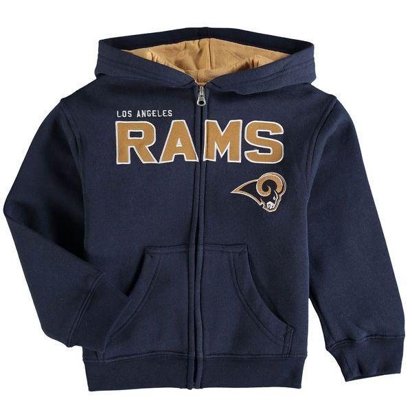Los Angeles Rams Preschool Fan Gear Stated Full-Zip Hoodie - Navy - $31.99