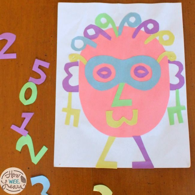 Awesome number art for preschoolers! Great to practice counting and number recognition