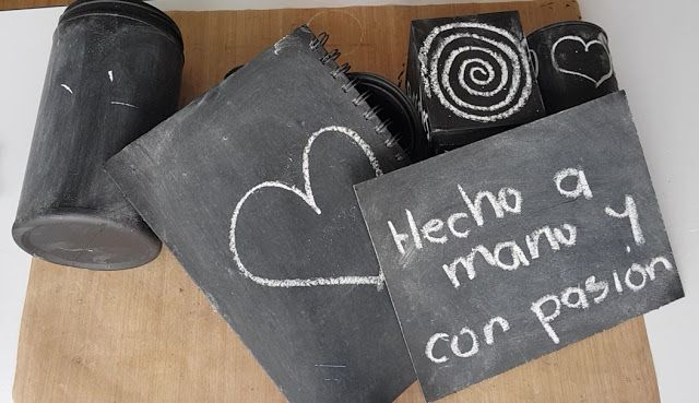 HECHO A MANO Y CON PASIÓN: PINTURA PIZARRA CASERA