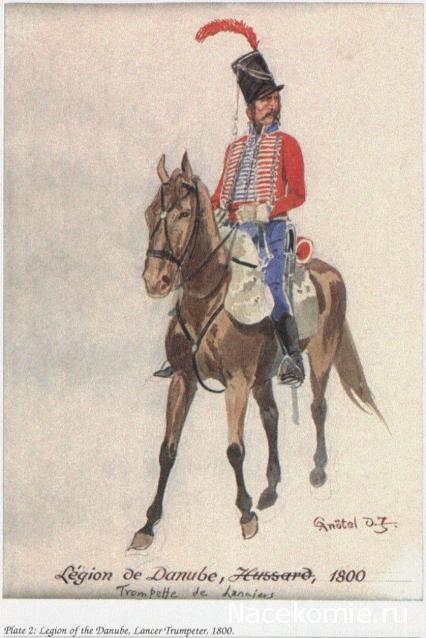 Légion de Danube Hussard 1800 Trompette des lanciers