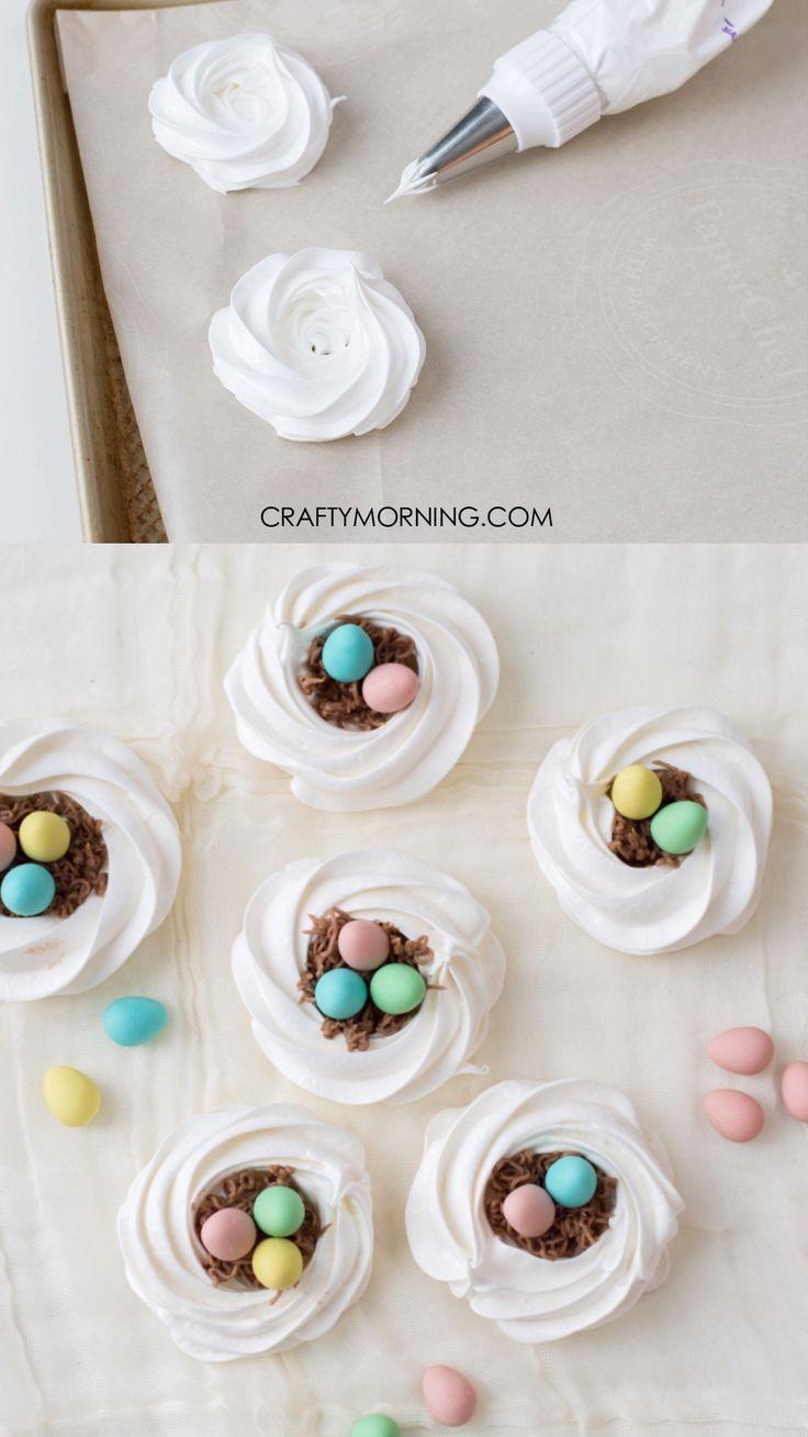 Easter Birds Nest Meringue Cookies