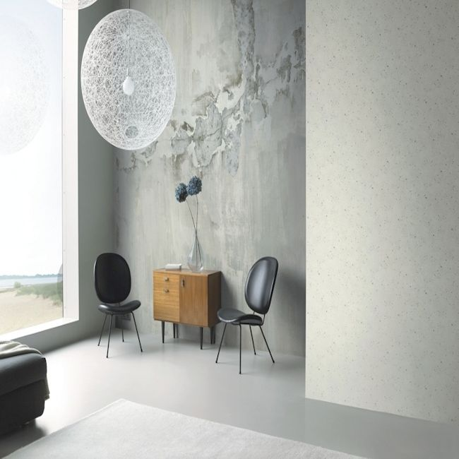 Concrete look wall mural, available in two sizes.