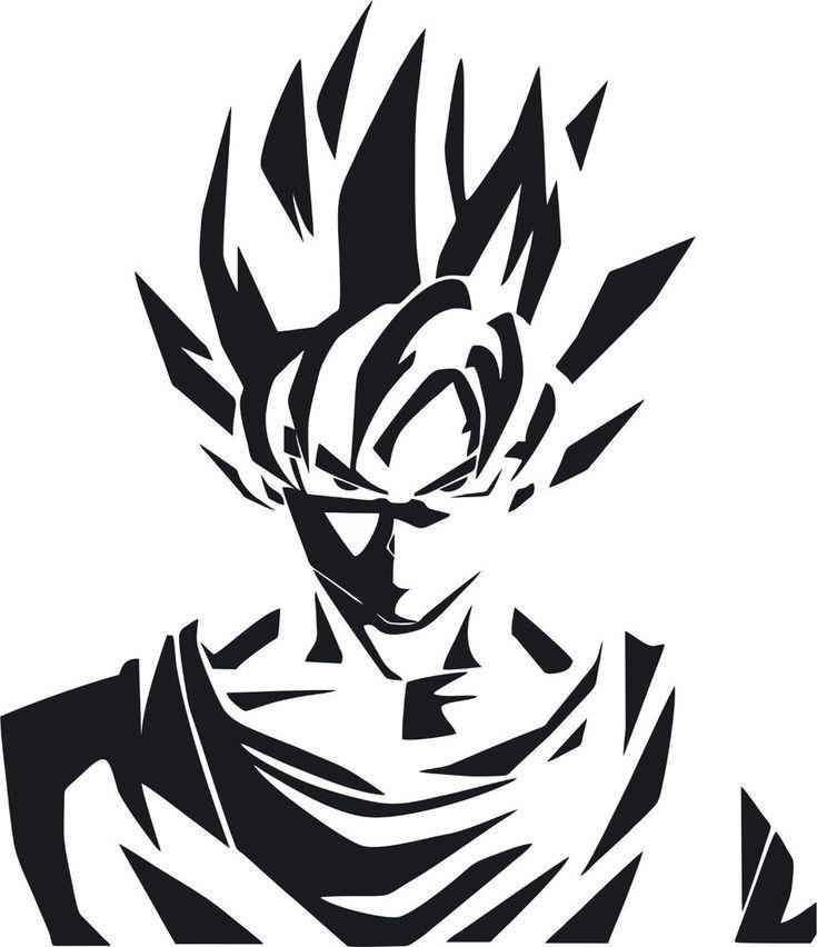 Dragon Ball Z DBZ logo Super Saiyan Goku Anime Vinyl Die Cut ... - Visit now for 3D Dragon Ball Z compression shirts now on sale! #dragonball #dbz #dragonballsuper