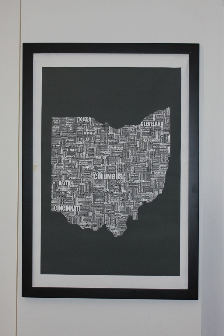 24x36 poster design - Ohio Type Map Canvas 24 X 36 Poster